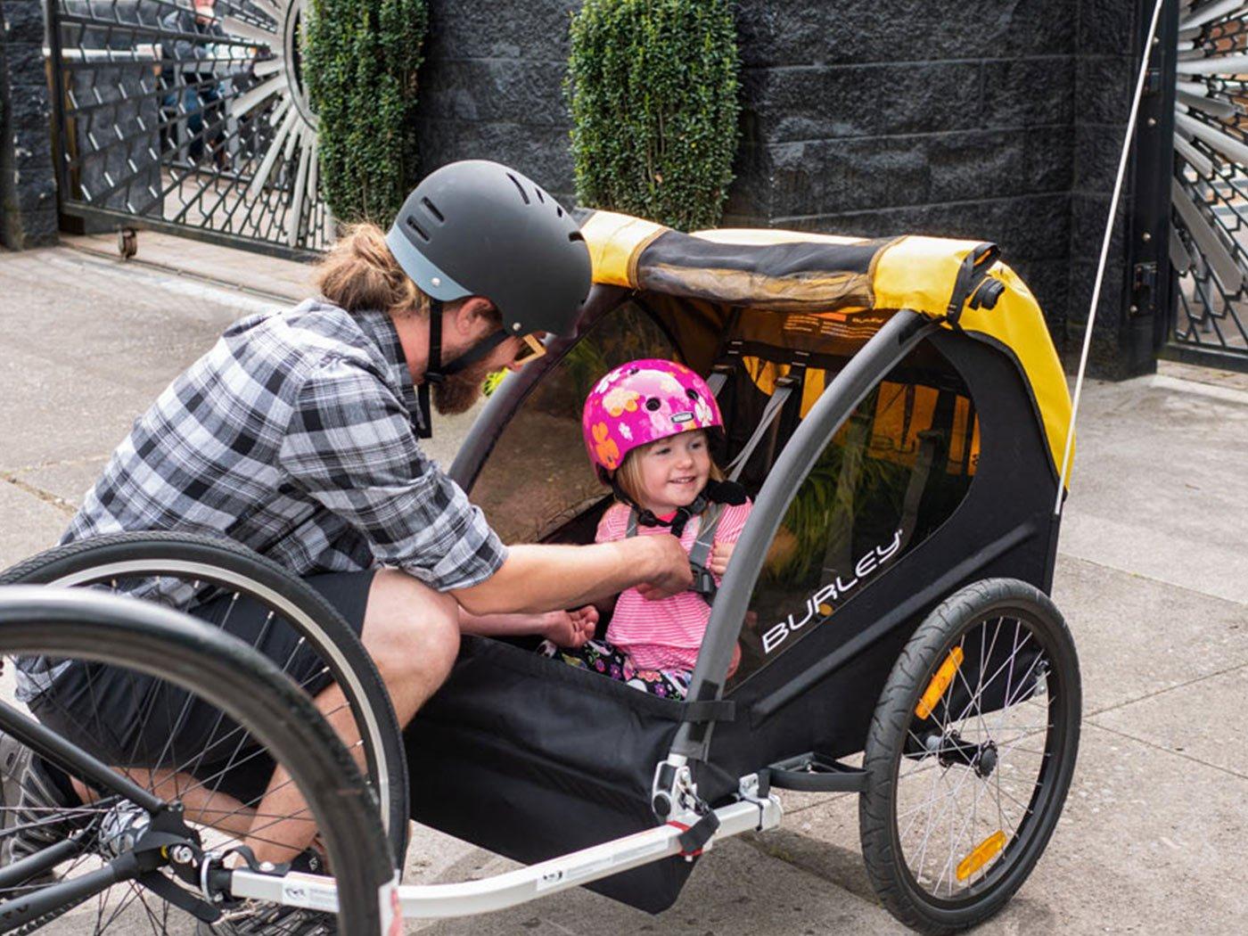 Burley Bee Childrens Bike Trailer at Pembrokeshire Bike Hire